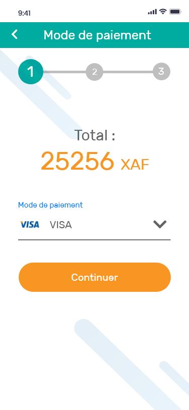 Eneo Collect – Selectionnez un mode de paiement – VISA